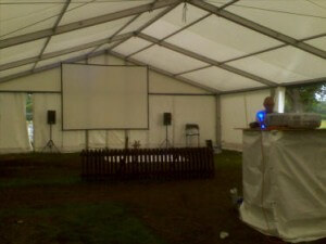 Marquee screen hire